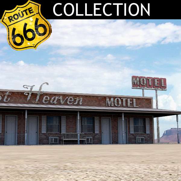 3d model highway motel - Highway Motel... by Clicheeee