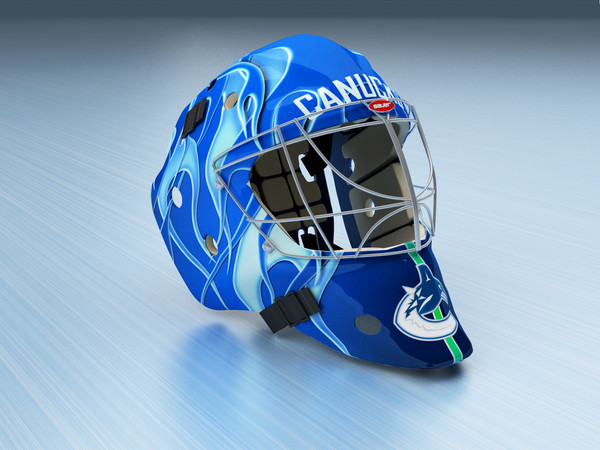 maya ice hockey goalie helmet - Goalie Ice Hockey Helmet... by gtalon