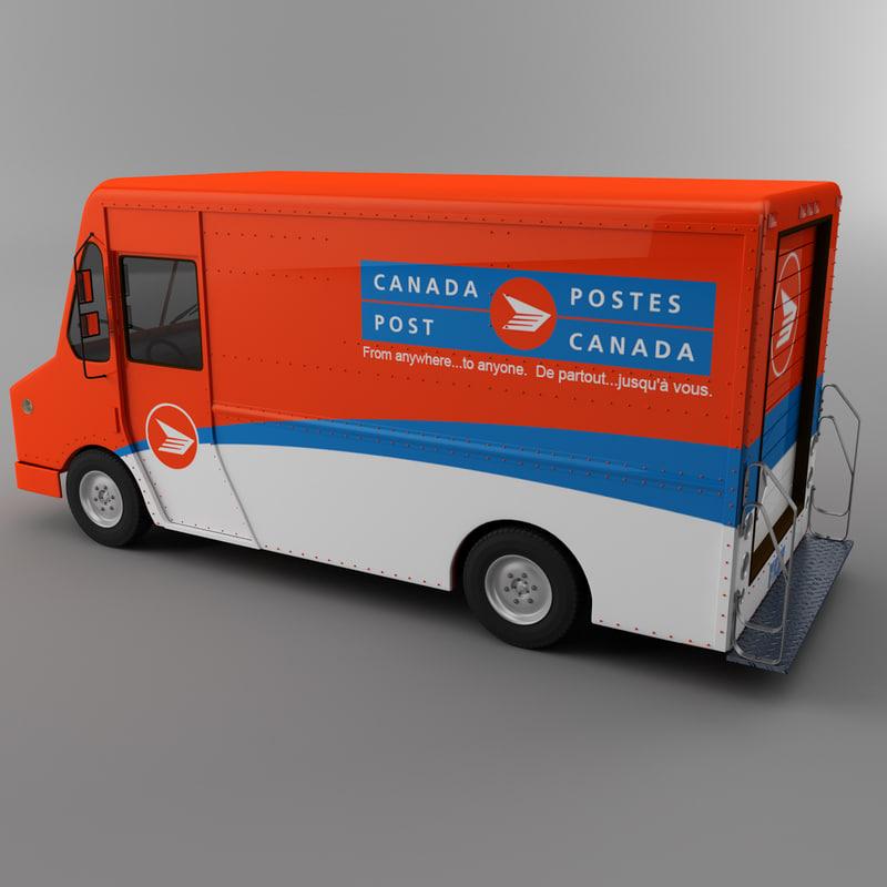 Canada post Courier truck Morgan Olson van