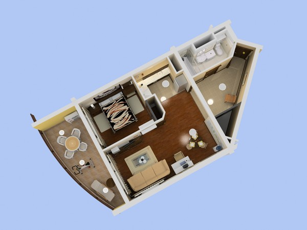 3d model apartment 1 - Flat 1... by etsale