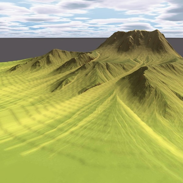 3d model mountain terrain - MountainT4... by ERLHN