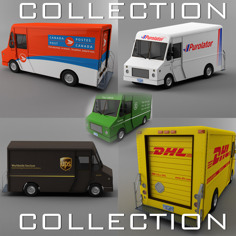UPS, Canada post, DHL, Purolator and NON BRAND  Courier truck Morgan Olson van COLLECTION