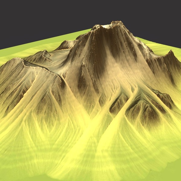 3d model mountain terrain - MountainT6... by ERLHN
