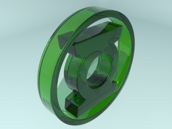 green lantern logo 3d model - Green Lantern Logo... by christiano247