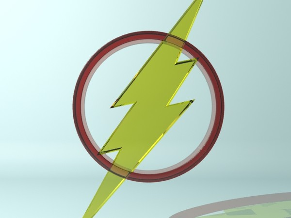 flash logo 3d model - Flash Logo... by christiano247