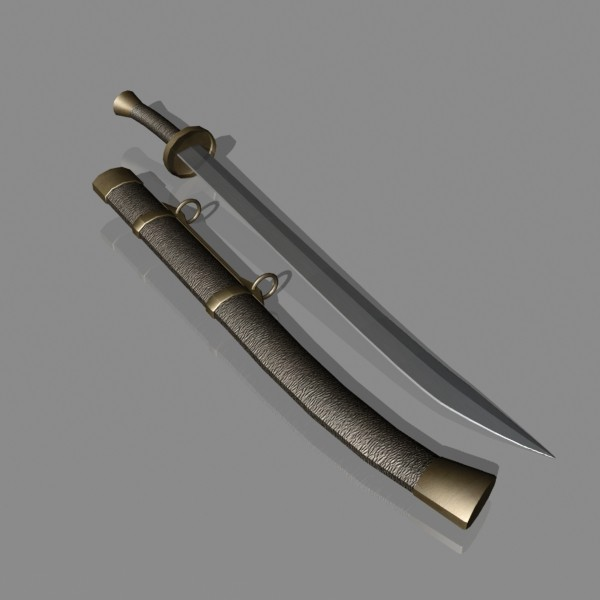 dao sword 3d 3ds - Dao Sword... by mostlysquare