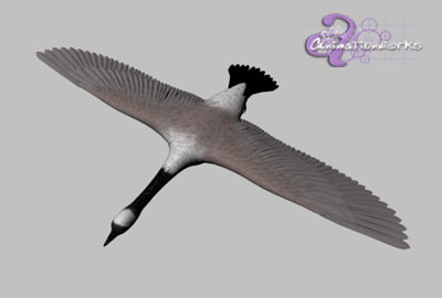 3d canadian goose model - Canadian Goose... by HIVEFX
