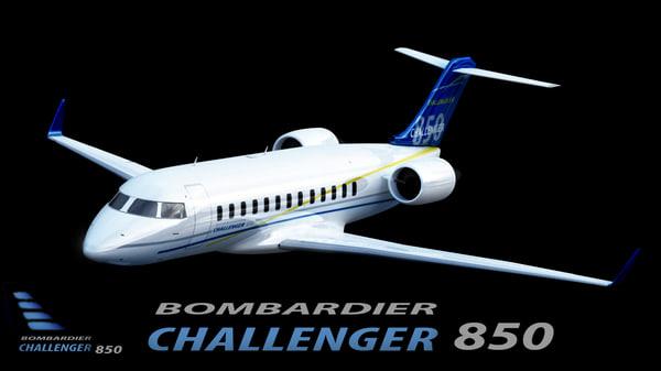 Bombardier Challenger 850 3D Models