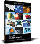 3d model globes 3d: world v2 - DOSCH 3D: World Globes V2 (Softimage XSI)... by Dosch Design