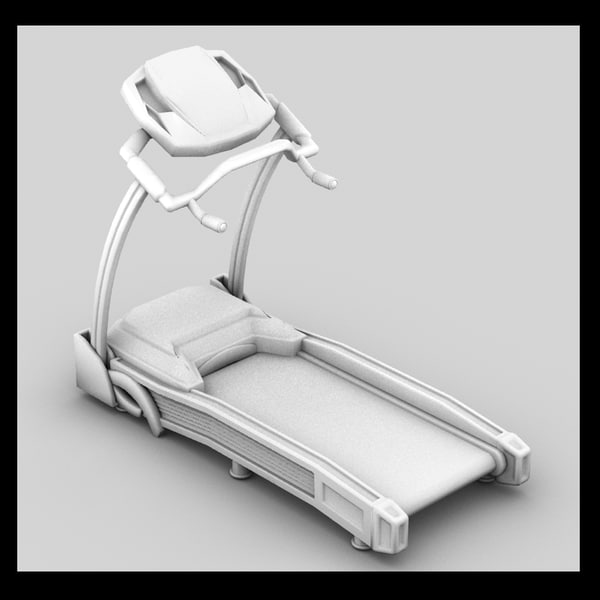 treadmill exercise 3d model - Treadmill... by Litarvan
