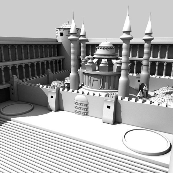 magical palace 3d c4d - Magic Palace... by KeremGogus