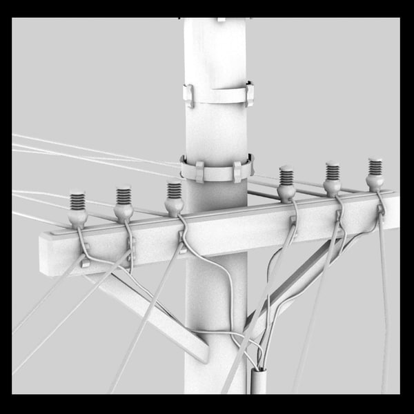 3d model power line - power line... by Litarvan
