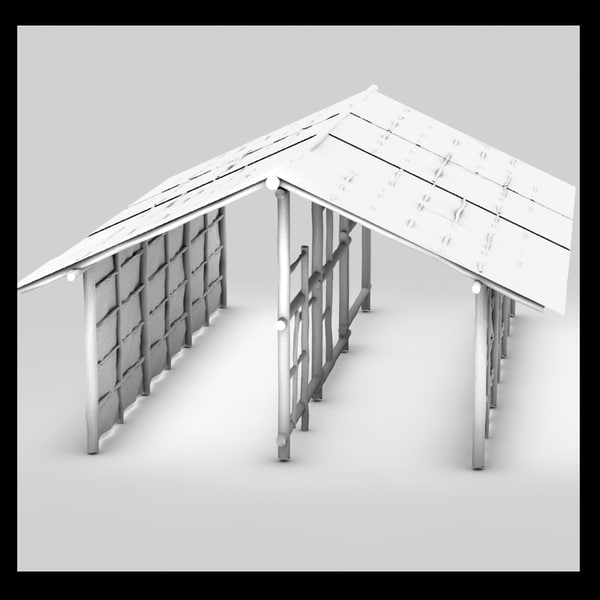 3d model bamboo house - bamboo house... by Litarvan