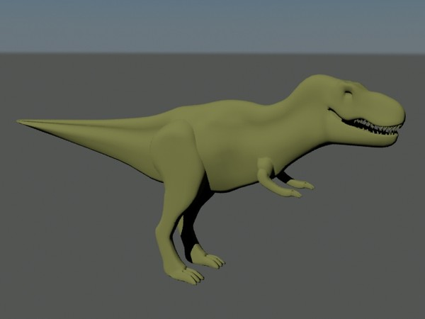 3d t-rex - T-rex (NoTex & NO-rig)... by BloodMan112