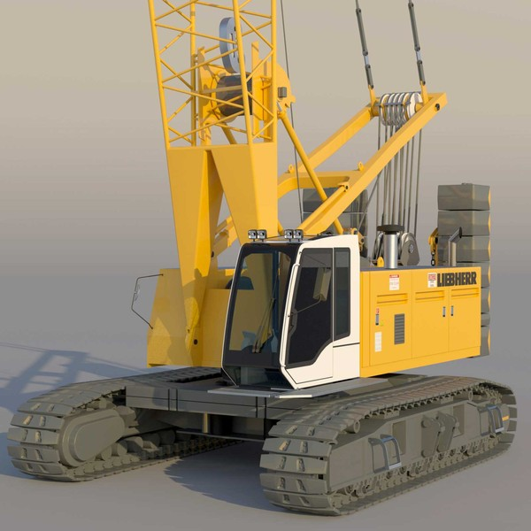 3d liebherr crane model - Liebherr Crawler Crane LR 1100... by ArqArt3D