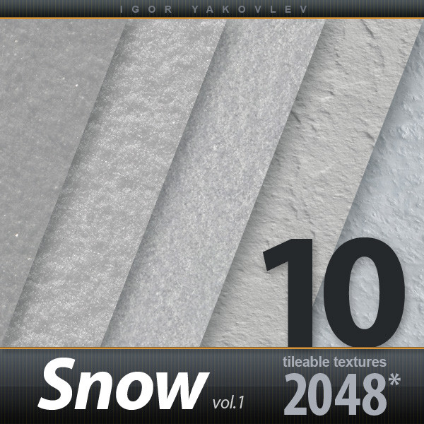 Snow Textures 2048x2048 vol.1