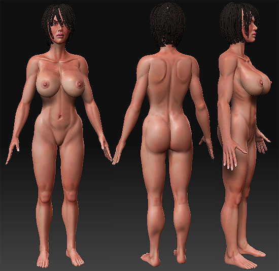 3d lightwave poser truespace model - Female and Male characters... by newartist