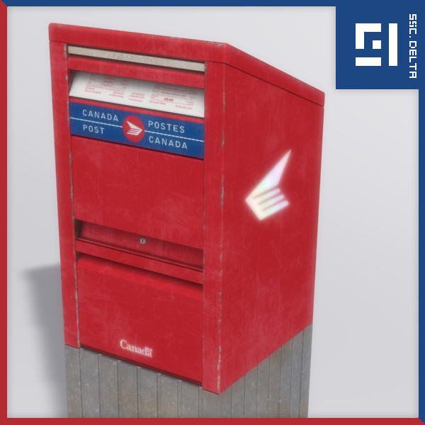 3ds stand canada post box - Stand Alone Canada Post Box... by Syntec