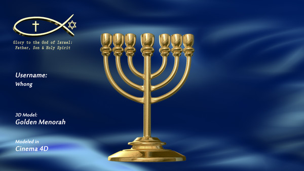 Golden Lampstand (Menorah) - Basic