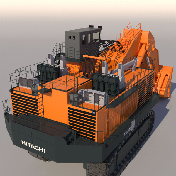 hitachi ex8000 3ds - HITACHI EX8000... by ArqArt3D