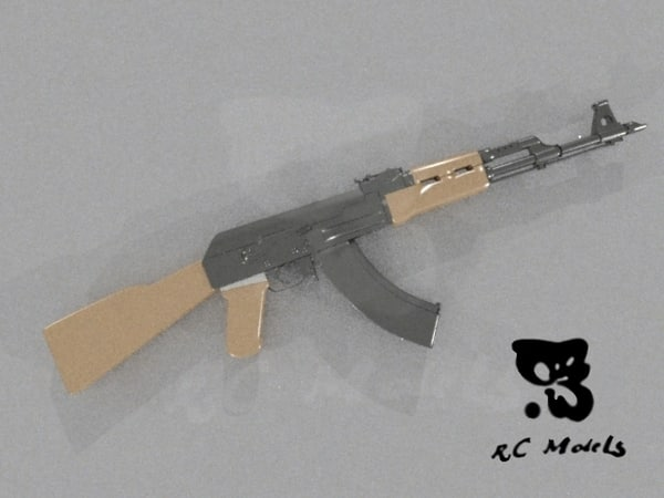 3d model ak47 rifle - ak47... by tywysogc