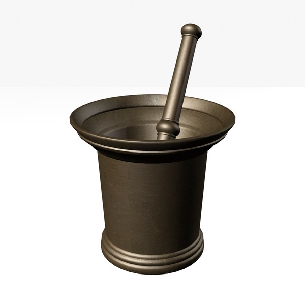 mortar 3ds - Brass Mortar... by mostlysquare