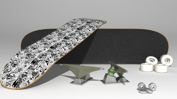 3d model complete skateboard - Highly Detailed Skateboard... by bubblegumkid