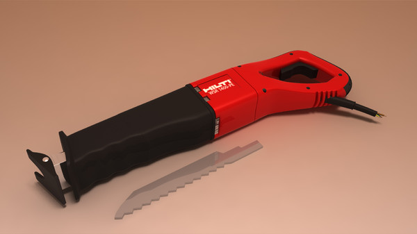 3d model straightforward saw hilti wsr - Hilti WSR 1400 PE - straightforward saw... by emkei
