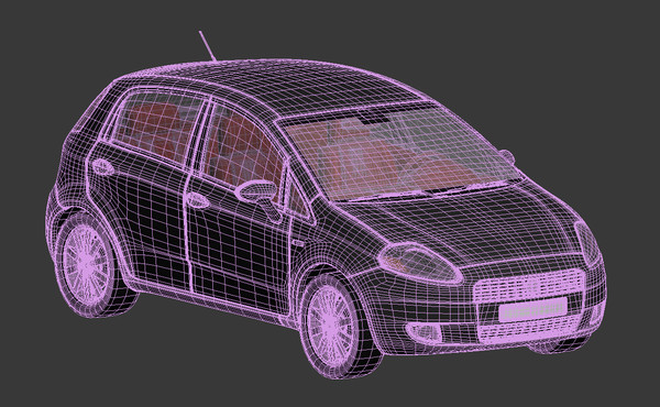 fiat punto car 3d model - Fiat Punto... by Krummenauer