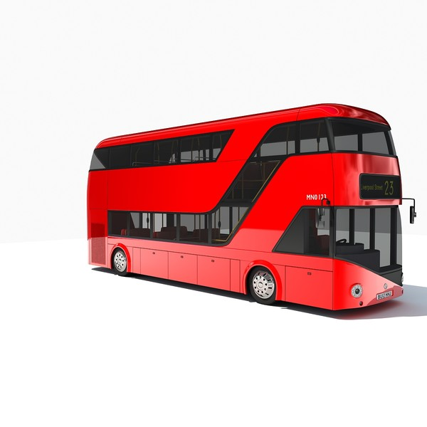 2012 london double decker 3ds - 2012 London Double Decker Bus... by Gandoza