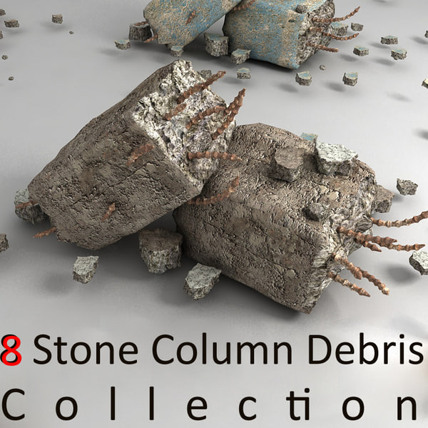 pillar debris 3d 3ds - pillar debris small (2)... by Litarvan