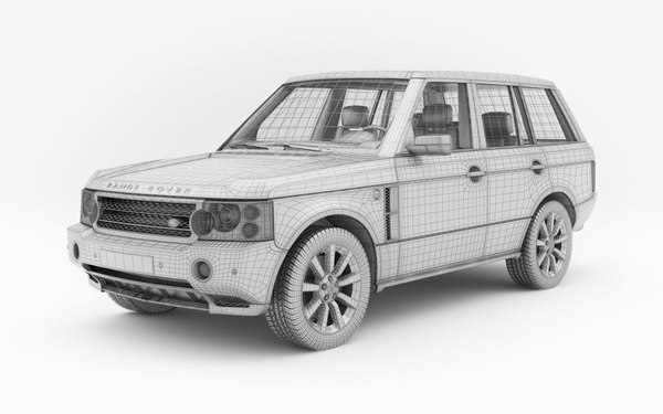 3d model car land rover range - Land Rover Range Rover... by evermotion