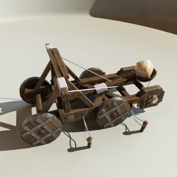 catapult 3d model - Catapult c... by happyyyy