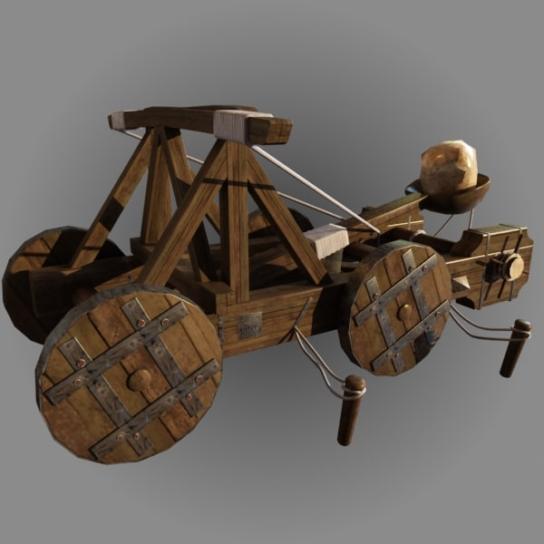 3d model catapult - Catapult Animated c... by happyyyy
