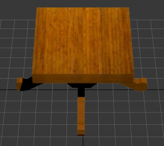 3d wooden table model - Wooden saloontable... by coolking33