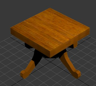 wooden table 3d model - Wooden saloontable... by coolking33