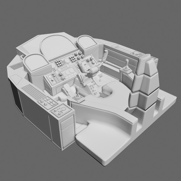 sci-fi cockpit 3d model - Cockpit A... by Tschirner