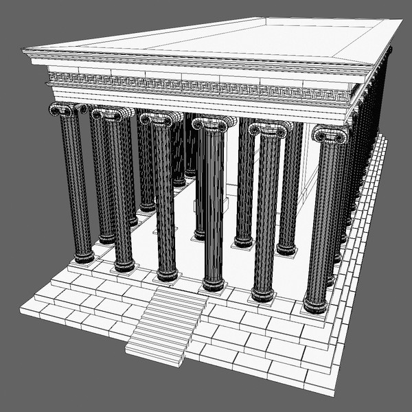 3ds max temple greek column - Temple 9... by Tschirner