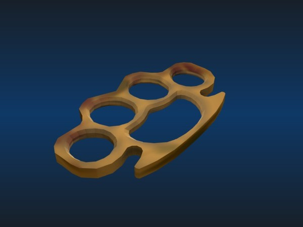brass knuckle 3d model - Brass Knuckles... by Captain_Xavious
