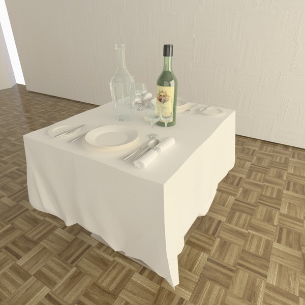 3d dining table - Dining Table... by TheToastMaster
