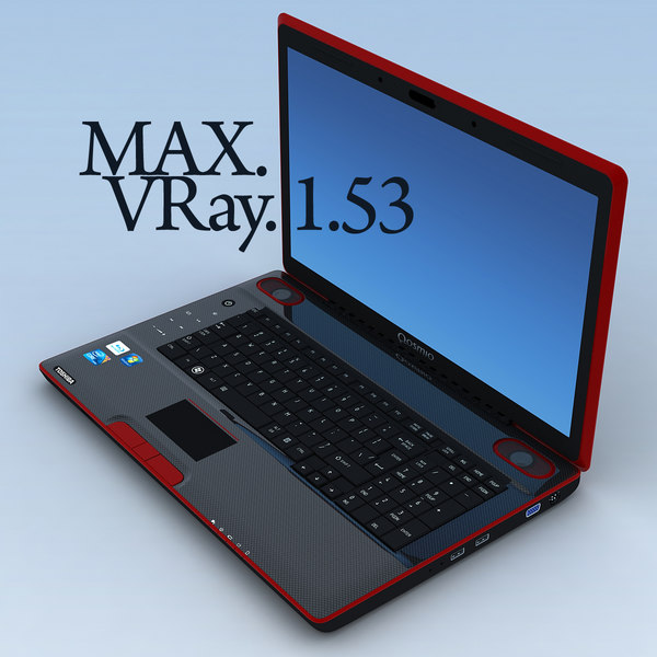 3ds max notebook toshiba qosmio x500 - Notebook TOSHIBA Qosmio X500.MAX... by 3DLocker