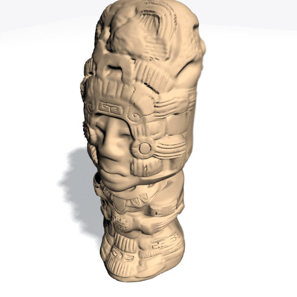mayan sculpture 3d model - Mayan Sculpture... by Interu2x