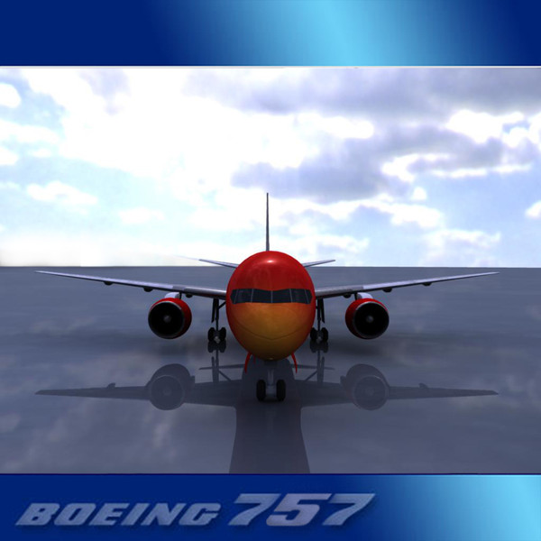 757-200 757s 3ds - Boeing 757-200 Low Poly... by PerspectX