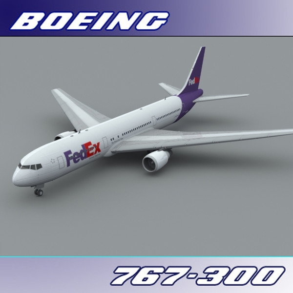 767 767-300 freight 3d 3ds - Boeing 767-300 (Fed EX)... by PerspectX