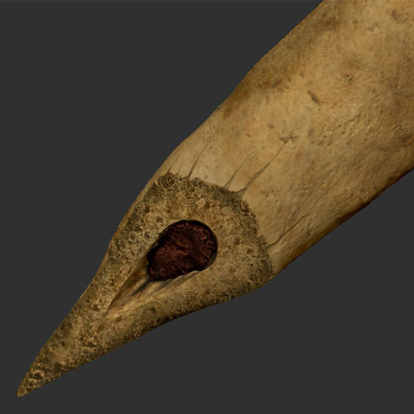 3d prehistoric bone knife model - Prehistoric Bone Knife... by The Freak Factory