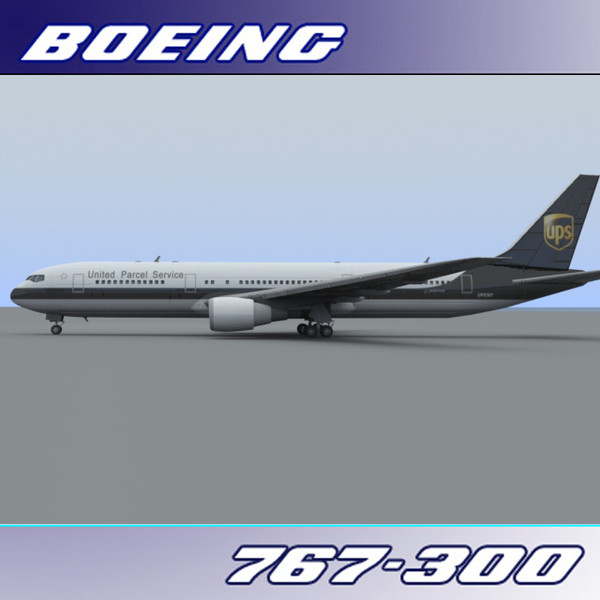 3dsmax 767-300 ups - Boeing 767-300 (UPS)... by PerspectX