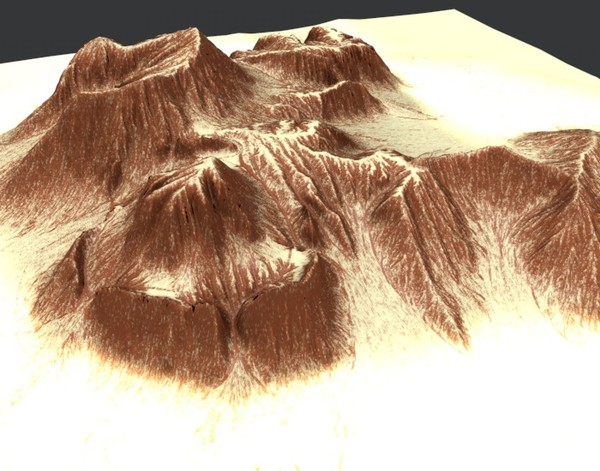 mountain terrain 3d model - Mountain2 Terrain... by ERLHN
