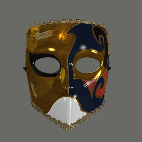 3d venetian mask model - Venetian Mask... by iio