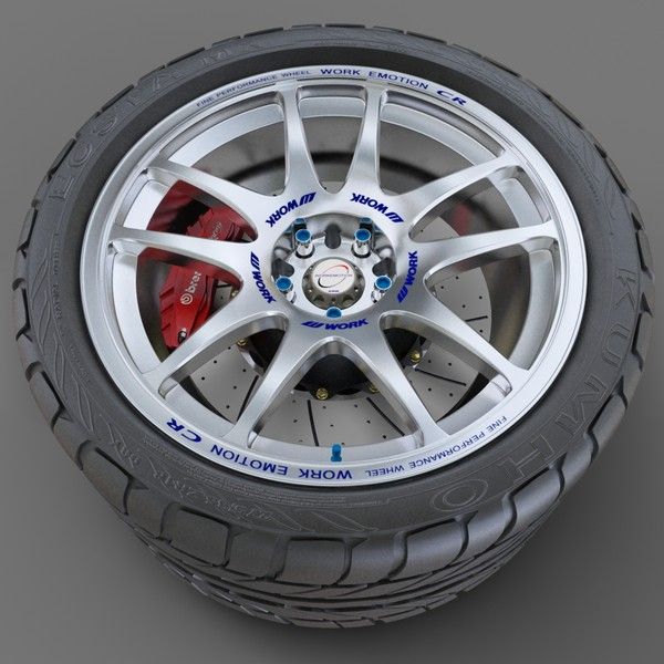 wheel emotion 3d max - Work Emotion... by redline_or_nothing