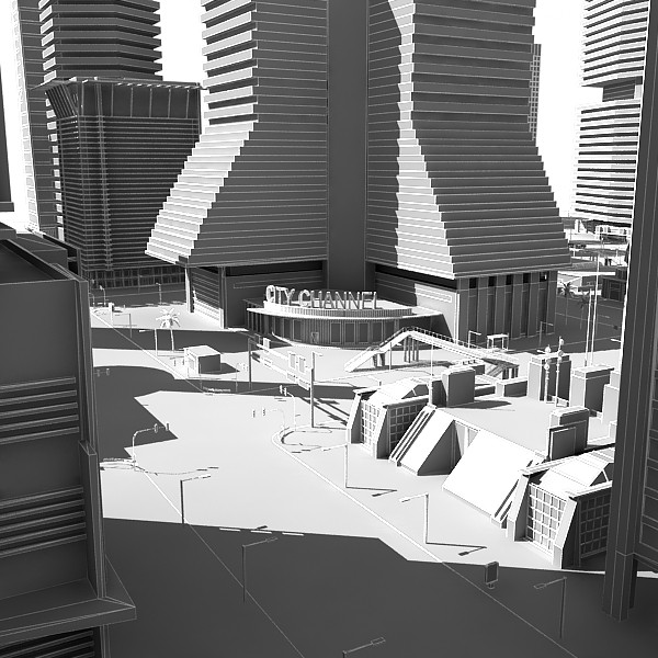 city buildings tower 3d model - White City... by Imagework